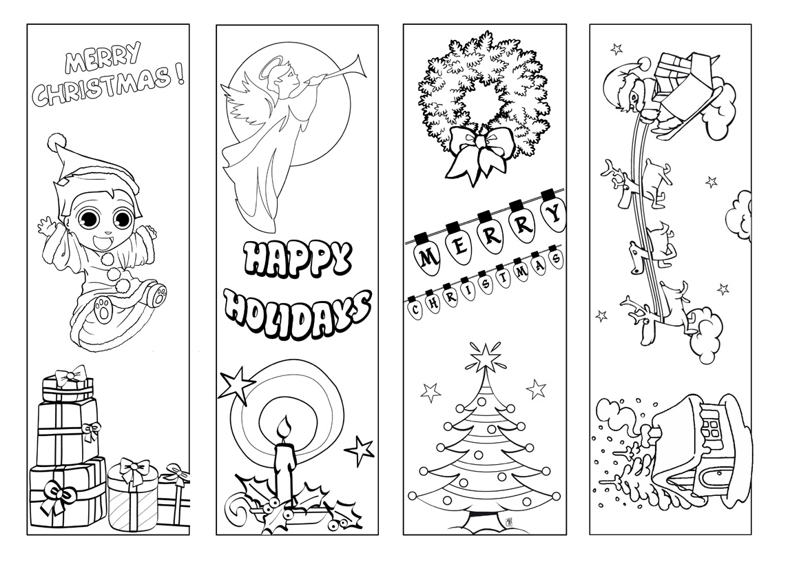 valentine bookmarks to color : These At Hello Kids