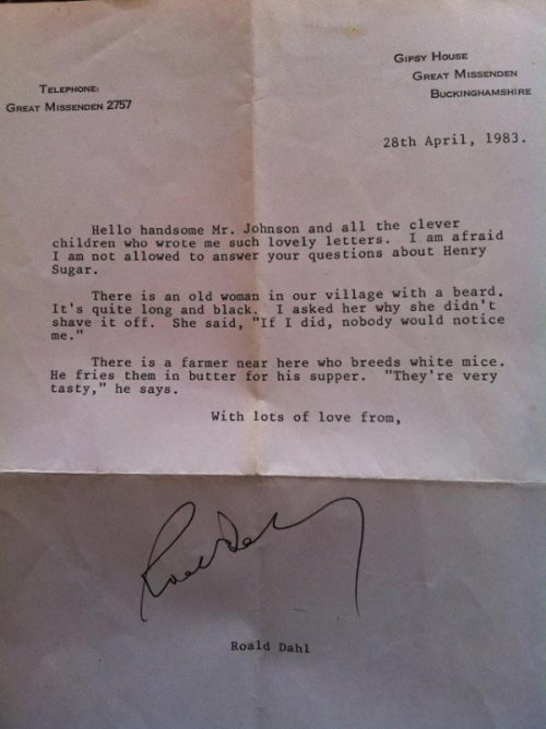 Roald-Dahl-letters