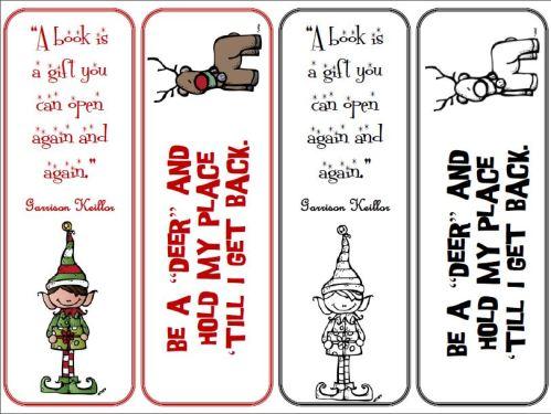 Seasonal Printable Reading Promotion Bookmarks Generously