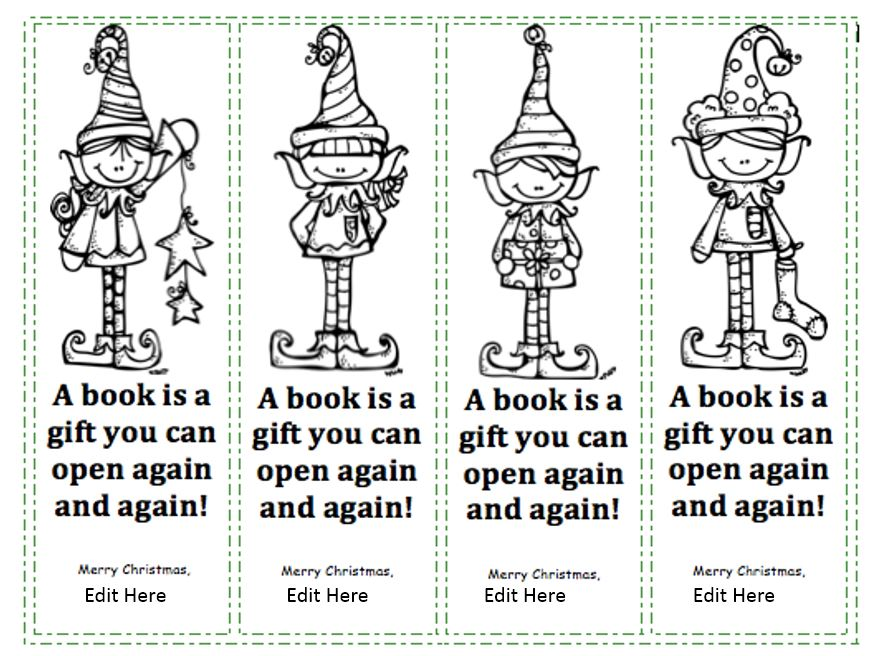 picture relating to Printable Christmas Bookmarks called Seasonal Printable Looking through Marketing Bookmarks, Generously