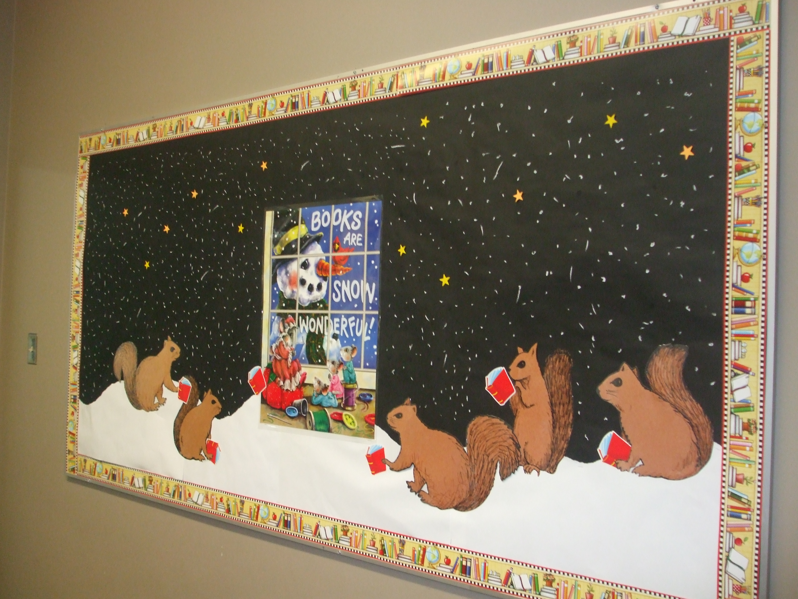 Books Are Snow Wonderful Bulletin Board