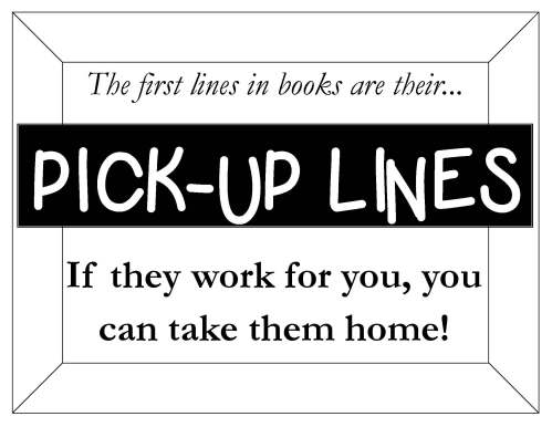First Lines Display Sign